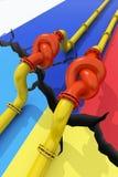 俄罗斯乌克兰气体危机 免版税图库摄影
