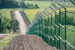 俄罗斯乌克兰边界 免版税库存图片