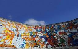 俄罗斯乔治亚友谊纪念碑跳舞长笛 免版税库存图片