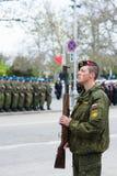 俄罗斯侵略军队战士吞并乌克兰 图库摄影