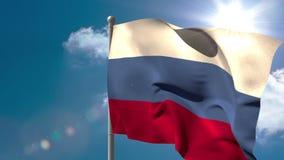 俄罗斯全国沙文主义情绪在旗杆 股票录像