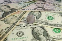 俄罗斯卢布硬币 免版税库存图片
