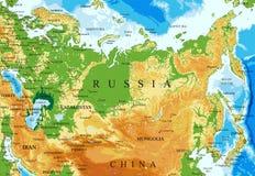 俄罗斯地势图 向量例证
