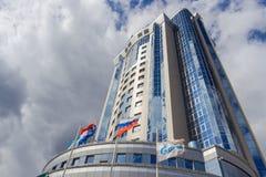 俄罗斯天然气工业股份公司Transgaz翼果 免版税图库摄影