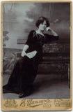 俄罗斯帝国-大约1897 :在俄罗斯展示的俄罗斯照片 库存照片