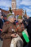 俄罗斯庆祝反法西斯胜利第70周年与盛大游行的 免版税库存图片