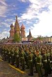 俄罗斯庆祝反法西斯胜利第70周年与盛大游行的 库存照片