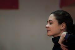 俄罗斯拉丁舞蹈师范训练中国人学生 库存照片