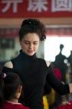 俄罗斯拉丁舞蹈师范训练中国人学生 免版税图库摄影