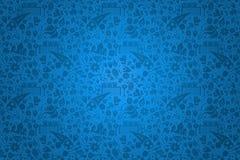 俄罗斯文化象蓝色背景模板 库存照片