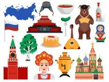 俄罗斯旅行集合 向量例证
