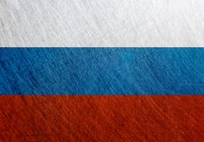 俄罗斯旗子葡萄酒,减速火箭,被抓 免版税库存照片