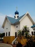 俄罗斯正教会在热带 库存照片