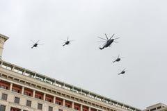 俄罗斯游行排练 免版税图库摄影