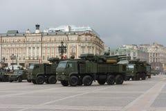 俄罗斯游行排练 免版税库存照片