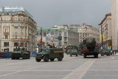俄罗斯游行排练 免版税库存图片