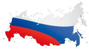 俄罗斯的五颜六色的地图 免版税图库摄影