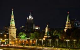 俄罗斯的克里姆林宫和外交部 图库摄影