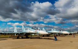 俄罗斯的军用飞机 免版税库存照片