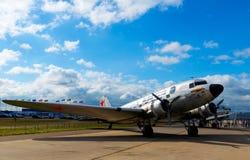 俄罗斯的军用飞机 免版税库存图片