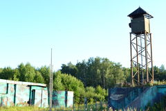 俄罗斯的前军事基地 免版税库存图片