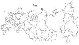 俄罗斯的地图 库存照片