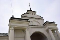 俄罗斯的白色石教会 库存照片