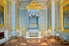 俄罗斯的皇帝的前面卧室Gatchina Pa的 免版税库存照片