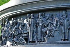 俄罗斯的纪念碑千年雕塑  免版税库存图片