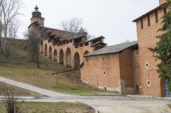 从俄罗斯的诺夫哥罗德克里姆林宫 免版税库存图片