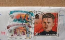 俄罗斯的邮票 免版税库存照片