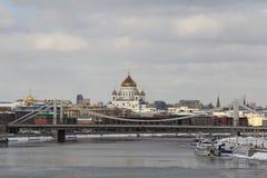俄罗斯的首都在早期的春天 库存图片
