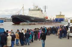 俄罗斯的破冰船节日  图库摄影