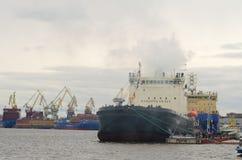 俄罗斯的破冰船节日  库存照片