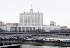 俄罗斯联邦政府大厦 免版税库存照片