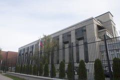 俄罗斯联邦的使馆在加拿大 库存图片