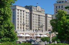俄罗斯联邦的杜马的大厦,莫斯科,俄罗斯 库存照片