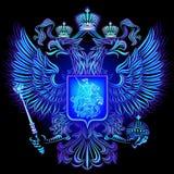 俄罗斯联邦的霓虹象征 图库摄影