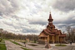 俄罗斯联邦,翼果,城市教会 免版税库存照片