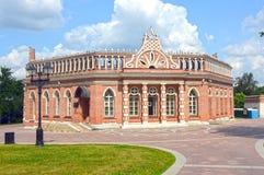 俄罗斯莫斯科合奏Tsaritsyno 18世纪第二骑兵军八面体1784建筑师Bazhenov 免版税库存照片