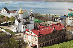 俄罗斯,下诺夫哥罗德:我们的Kaz的夫人教会  免版税库存图片