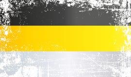 俄罗斯,俄罗斯帝国的国旗 起皱纹的肮脏的斑点 库存例证