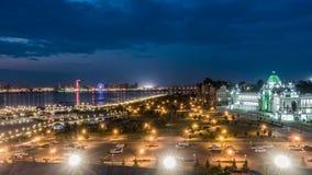 俄罗斯,共和国鞑靼斯坦共和国,喀山,时间舔,平衡城市 股票视频