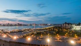 俄罗斯,共和国鞑靼斯坦共和国,喀山,时间舔,平衡城市 股票录像