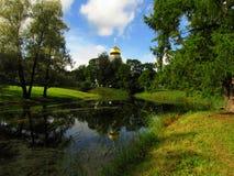 俄罗斯,圣彼德堡,年9月9日, 2017年,照片费多罗夫Gosudarev大教堂在秋天 图库摄影