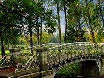 俄罗斯,圣彼德堡,秋天在Gatchina公园 库存照片