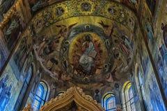 俄罗斯,圣彼德堡, 23,09,2017内部教会  库存照片
