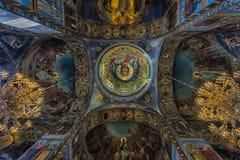 俄罗斯,圣彼德堡, 23,09,2017内部教会  免版税库存图片