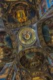 俄罗斯,圣彼德堡, 23,09,2017内部教会  库存图片