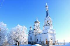 俄罗斯,圣彼德堡,2018年3月21日,圣洁受难者女王亚历山德拉的教会Babigonsky小山的 免版税图库摄影